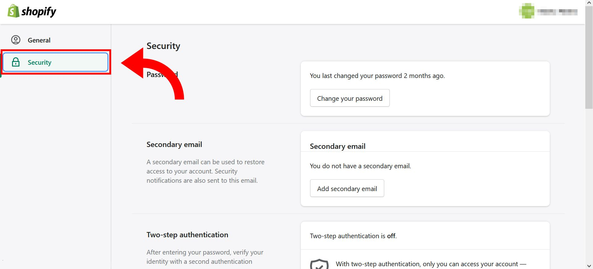 How to change Shopify store password - step 4