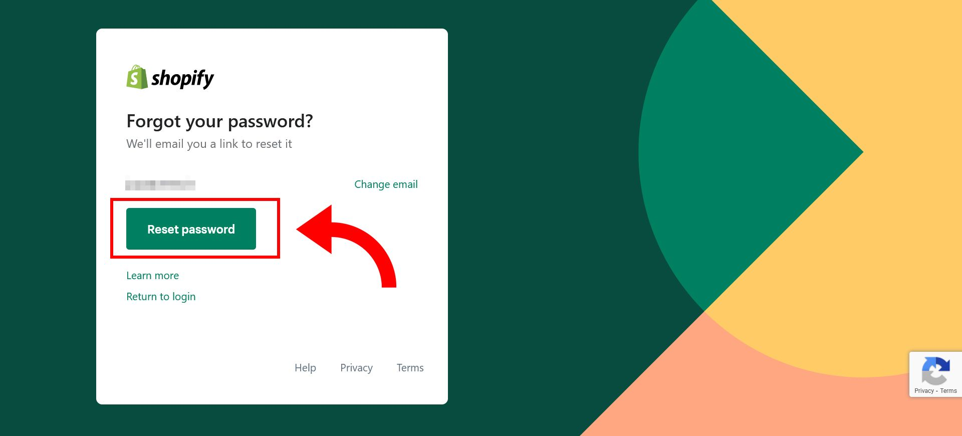 How to change Shopify store password - step 3