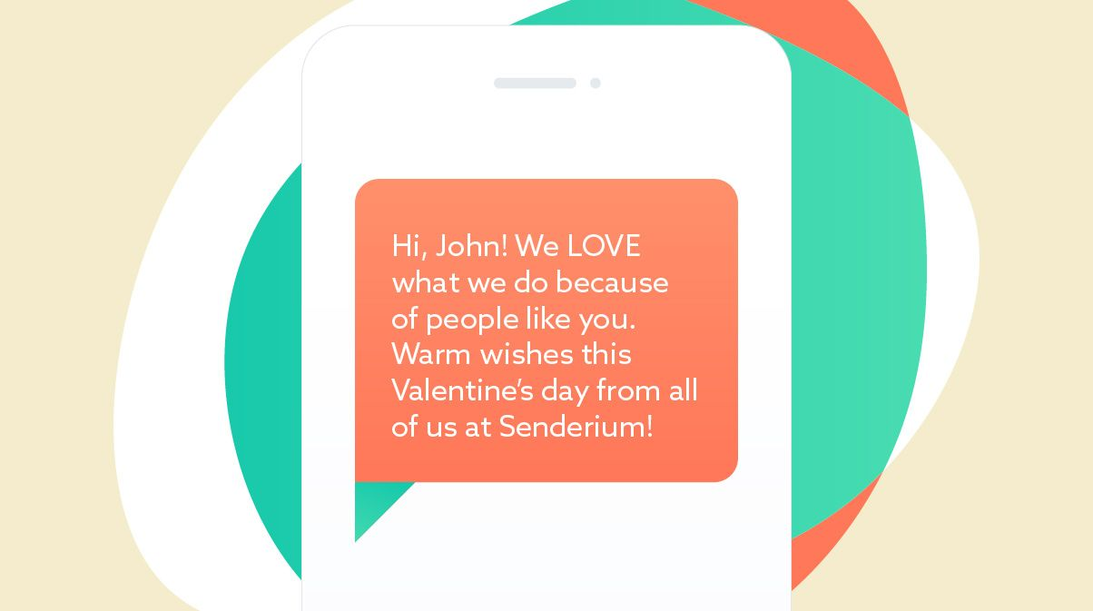 Valentine's day SMS template #1