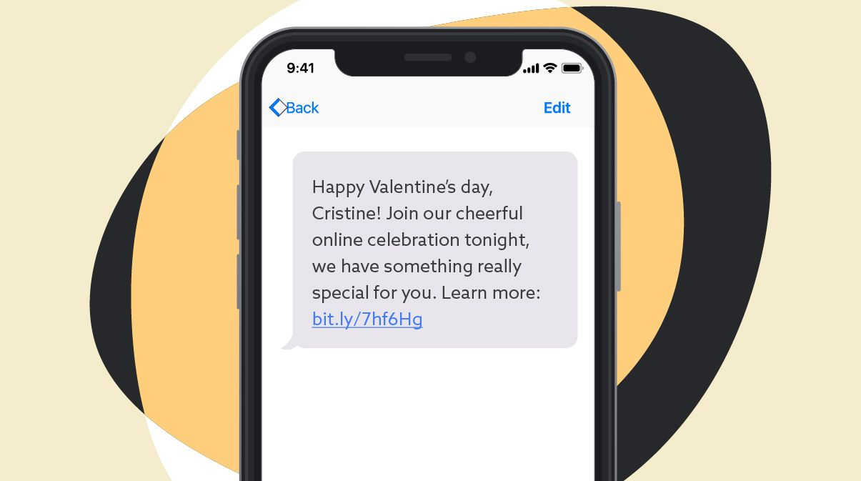 Valentine's day SMS template #6